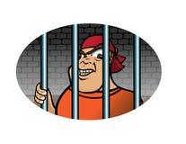 Grimacerie de prisonnier Photographie stock