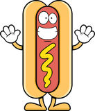 Grimacerie du hot-dog de bande dessinée Photographie stock