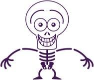 Grimacerie squelettique drôle de Halloween tout en se sentant gêné Photo libre de droits
