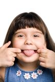Grimacing. Photo of a small girl making faces Royalty Free Stock Images