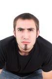 Grimacing boy Stock Images