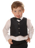 Grimacing boy. Dressed up child Stock Photography