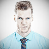 Grimacing businessman Stock Photos