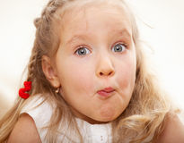 Grimacing child Royalty Free Stock Photography