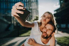 Free Grimacing Couple Of Young People Making Photo Stock Image - 131628671