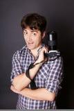 Grimacing man Stock Photography