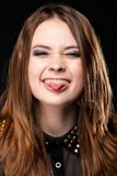 Grimacing. Young Woman Making Silly Face. Royalty Free Stock Photo