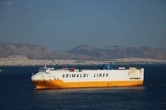 Grimaldi linjer skepp Arkivbild