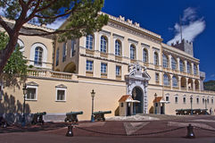 The Grimaldi palace, Monaco principality Royalty Free Stock Images