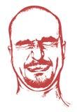 Grimasse auf Gesicht lizenzfreie stockfotografie