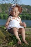 Grimassen trekkende Baby Stock Foto