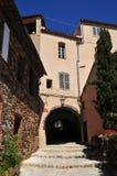 Grimaud, Γαλλία - 16 Απριλίου 2016: το ιστορικό χωριό Στοκ Εικόνες