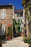 Grimaud, Γαλλία - 16 Απριλίου 2016: το ιστορικό χωριό Στοκ εικόνα με δικαίωμα ελεύθερης χρήσης