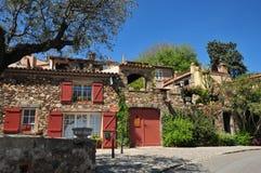 Grimaud, Γαλλία - 16 Απριλίου 2016: το ιστορικό χωριό Στοκ φωτογραφία με δικαίωμα ελεύθερης χρήσης