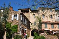 Grimaud, Γαλλία - 16 Απριλίου 2016: το ιστορικό χωριό Στοκ Φωτογραφία