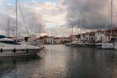 Street canals in Port Grimaud, France
