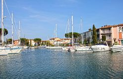 Grimaud gauche, France Image stock