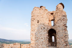 Grimaud - ruins of a castle royalty free stock photo