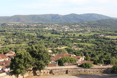 Grimaud on the Southern France Royalty Free Stock Photo