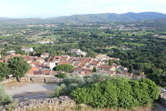 Grimaud on the Southern France Stock Image