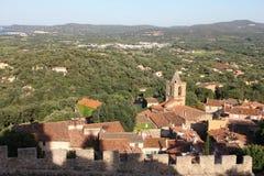Grimaud sur la France méridionale Image libre de droits