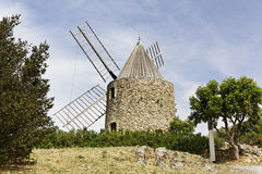 Grimaud, 17th century Saint Roch's windmill Stock Image