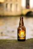 Grimbergen belgian beer bottle Royalty Free Stock Photo