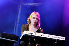 Grimes (band) performs at Primavera Sound Festival Royalty Free Stock Photography
