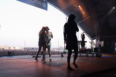 Grimes band, performs at San Miguel Primavera Sound Stock Images