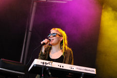 Grimes band performs at San Miguel Primavera Sound Festival Royalty Free Stock Photography