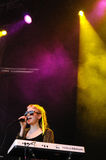 Grimes band performs at San Miguel Primavera Sound Festival Stock Image