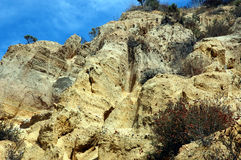 Grimes Canyon sandstone. View of sandstone in Grimes Canyon Ca royalty free stock photography