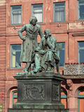 Grimm Brothers, Germany. Famous literary German monument in Hanau city, Germany. The Grimm Brothers are among the best-known story tellers of folk tales from Stock Images