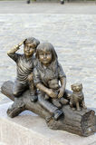 Grimm brothers story characters statue Royalty Free Stock Images