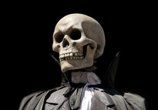 Grimmiger Reaper. Skelett des Todes Lizenzfreie Stockfotos