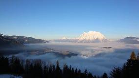 Grimming Mountain in Ennstal, Austria stock video