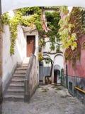 Grimpeur d'escaliers de ruelle de Ravello photo stock