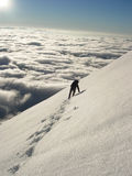 Grimpeur dans haut Tatras Photo stock