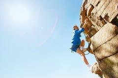 Grimpeur de falaise Image stock