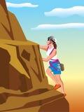 Grimpeur de montagne illustration de vecteur