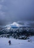 Grimpeur de montagne Photos libres de droits
