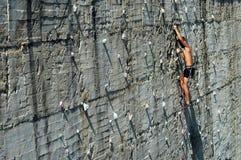 Grimpeur de roche Image libre de droits