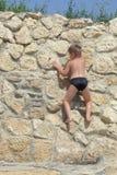 Grimpeur de roche Photo libre de droits