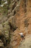 Grimpeur de roche photos libres de droits