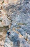 Grimpeur de roche féminin Photo stock
