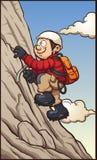 Grimpeur de roche s'attachant à une falaise illustration libre de droits