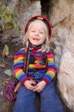 Grimpeur féminin Photo libre de droits