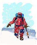 Grimpeurs de montagne illustration de vecteur