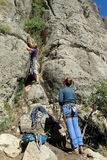 Grimpeurs de roche photo libre de droits