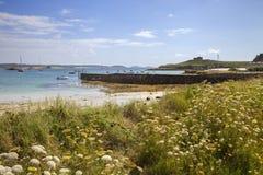 Grimsby velho, Tresco, ilhas de Scilly, Inglaterra Foto de Stock